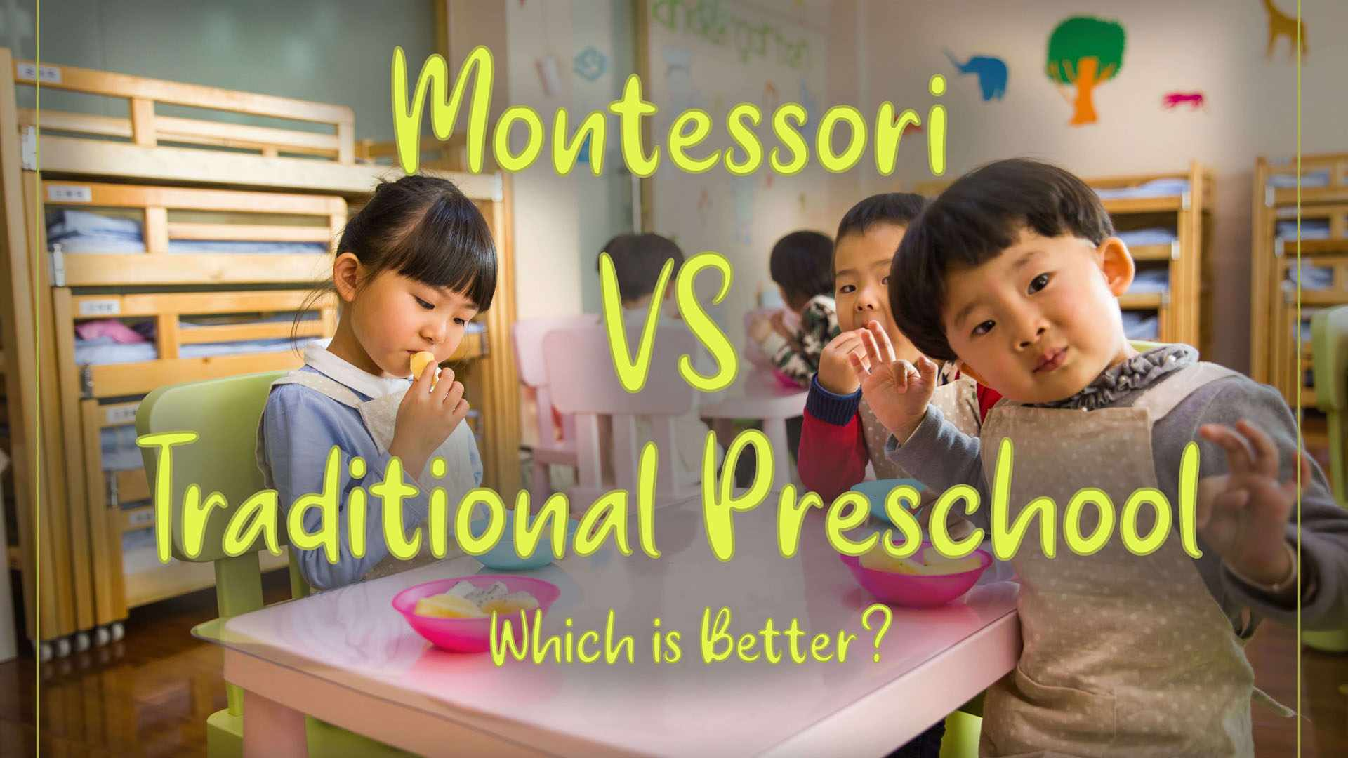 Difference between Montessori and Traditional preschool: Which is better?